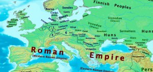 Map of Europe, 400 CE (Thomas Lessman)