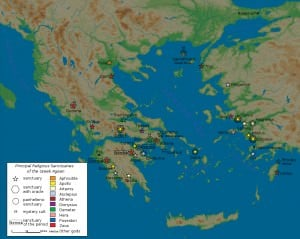 Map of Classical Greek Sanctuaries (Marsyas)