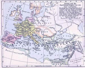 East Roman Empire, 6th century CE (William R. Shepherd)
