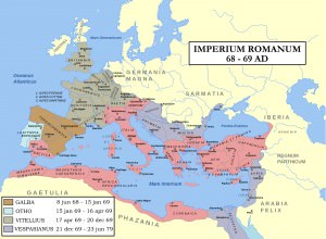 Map: Year of the Four Emperors (Andrei Nacu & Steerpike)