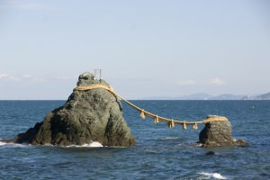 Meoto-iwa or the Wedded Rocks (Taku)