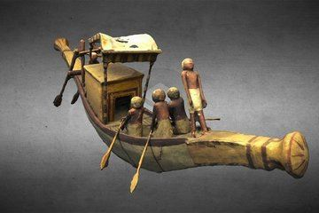 Model Funerary Barque of Mersou