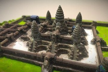 Angkor Wat Temple - 3D View