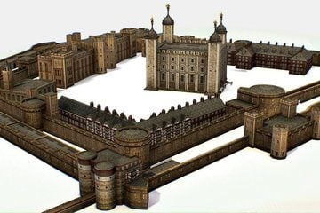 Tower of London - 3D View