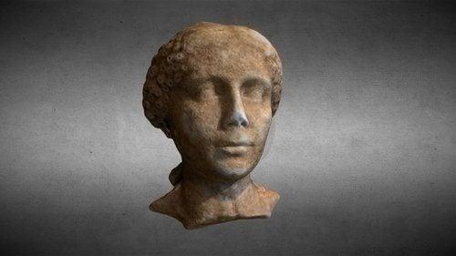 Head of a Roman Girl - 3D View