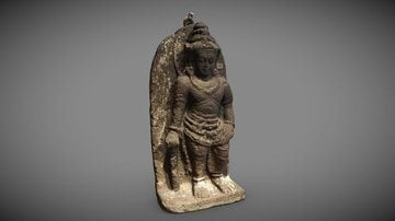 Javanese Sculpture of a Hindu Deity