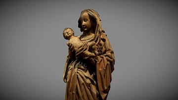 Late Medieval Statue of the Virgin & Child