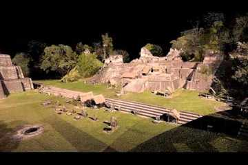 Tikal 3D Laser Scan Fly-through