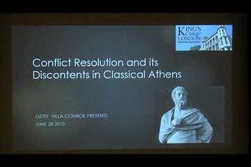 Edith Hall on the challenges of conflict resolution in classical Athens