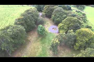 Aerial View of Clava Cairns