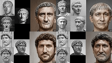 Faces of Roman Emperors: Nerva to the Severan Dynasty